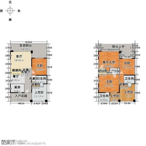 御林伯爵公馆3室1厅3卫1厨241.00㎡户型图