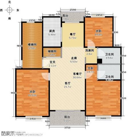 城南丽景新苑3室1厅2卫1厨110.00㎡户型图