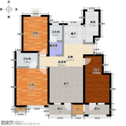 公园世家・观山樾3室0厅2卫1厨123.00㎡户型图