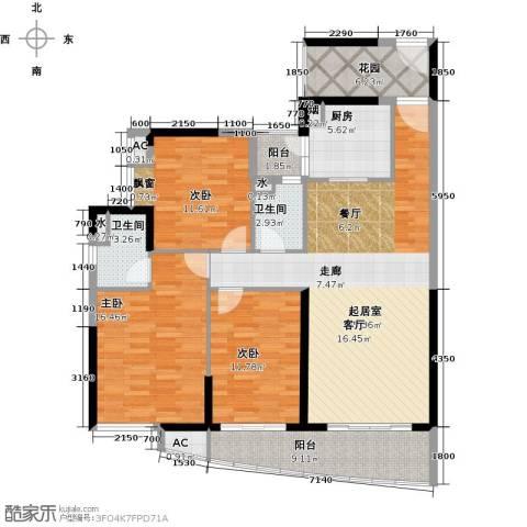 晟大海湾城3室0厅2卫1厨126.00㎡户型图
