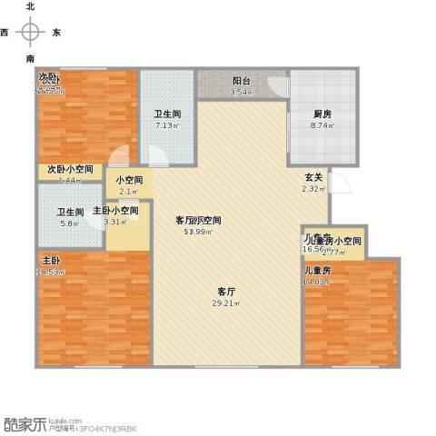 都市左岸3室1厅2卫1厨174.00㎡户型图