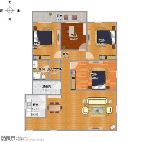 凯圣佳园4室1厅2卫1厨152.00㎡户型图