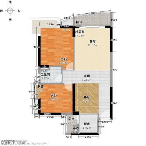 晟大海湾城2室0厅1卫1厨88.00㎡户型图