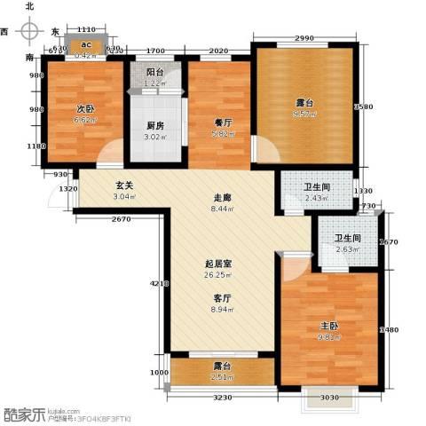 公园世家・观山樾2室0厅2卫1厨102.00㎡户型图