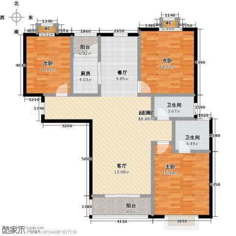 公园世家・观山樾3室0厅2卫1厨119.00㎡户型图