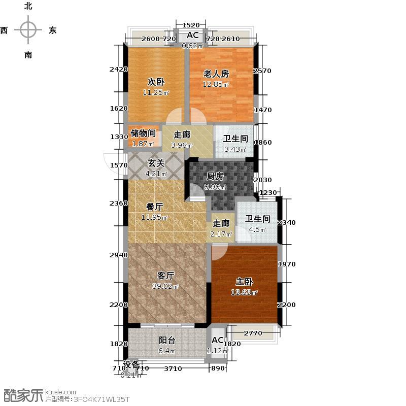江南理想户型3室1厅2卫1厨-副本