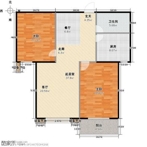 满城中景华庭2室0厅1卫1厨98.00㎡户型图