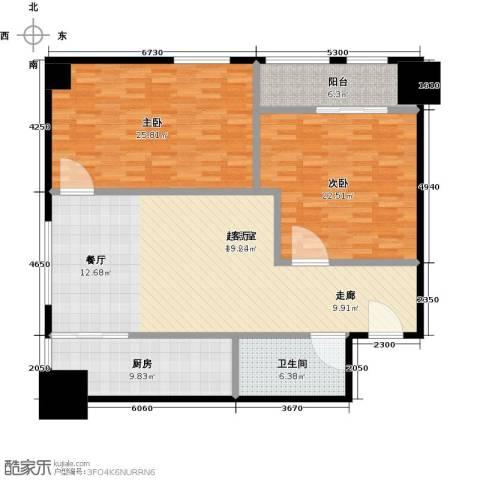 领先心城二期2室0厅1卫1厨127.00㎡户型图