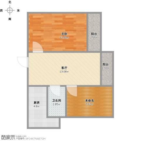 恒盛湖畔豪庭1室1厅1卫1厨62.00㎡户型图