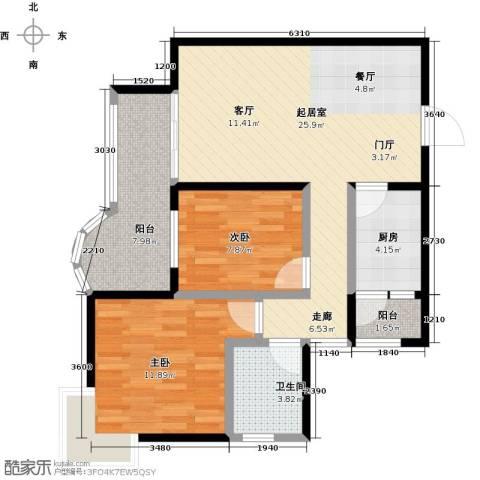 奥宸・纳帕溪山2室0厅1卫1厨78.00㎡户型图