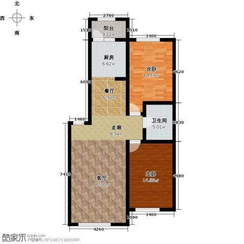 龙润・福湾国际2室1厅1卫0厨95.00㎡户型图