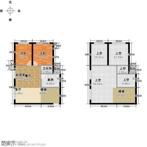 大唐世家二期(大唐520)2室0厅1卫1厨141.12㎡户型图