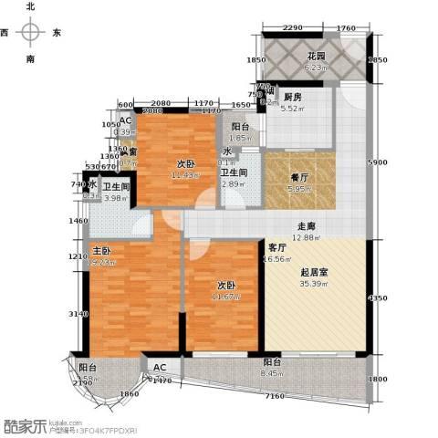 晟大海湾城3室0厅2卫1厨130.00㎡户型图