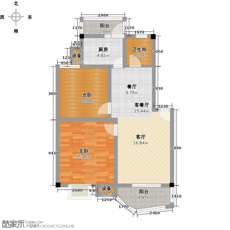 汉口人家(二期)74.00㎡房型: 二房; 面积段: 74 -99.01 平方米;户型