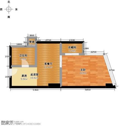 中海龙港(BOBO国际)1室0厅1卫0厨49.00㎡户型图