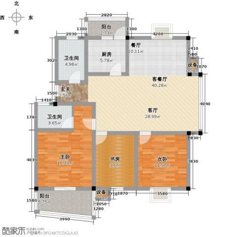 汉口人家(二期)3室1厅2卫1厨101.79㎡户型图