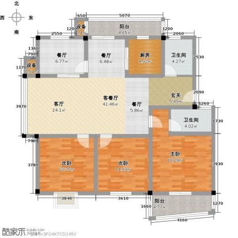 汉口人家(二期)3室2厅2卫1厨129.00㎡户型图
