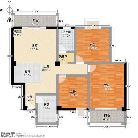 丽水康城(一期)3室0厅1卫1厨109.00㎡户型图