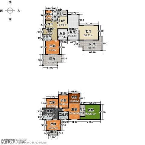 香樟苑7室1厅5卫1厨538.00㎡户型图