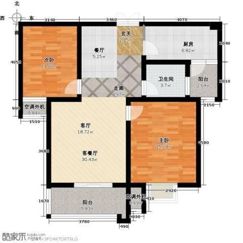 融锦・尚都2室1厅1卫1厨88.00㎡户型图