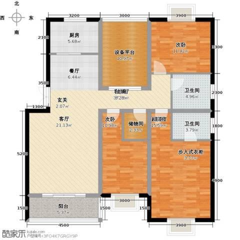 丽江幸福里2室1厅2卫1厨126.00㎡户型图