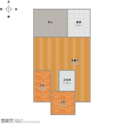 全福立交桥附近宿舍2室1厅1卫1厨267.00㎡户型图