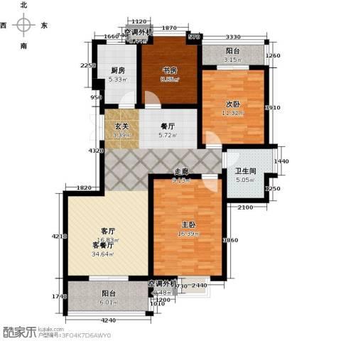 融锦・尚都3室1厅1卫1厨107.00㎡户型图