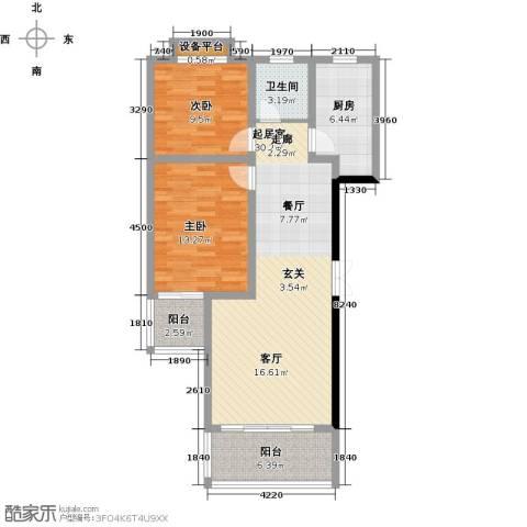 第一大道浏阳河畔2室0厅1卫1厨105.00㎡户型图