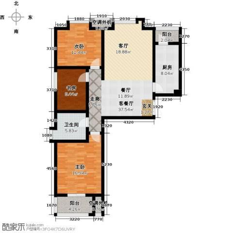 融锦・尚都3室1厅1卫1厨110.00㎡户型图