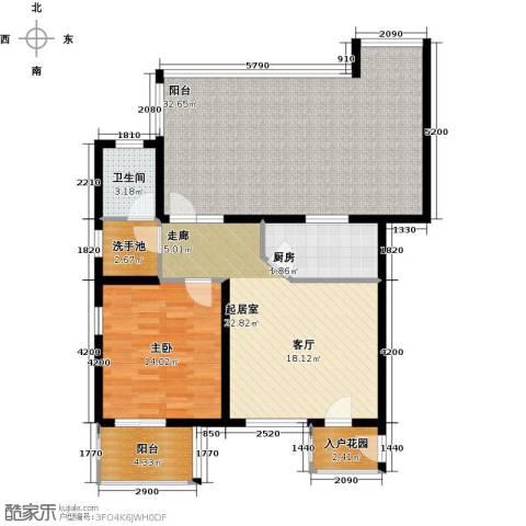 大地12城二期--朗琴园1室0厅1卫1厨123.00㎡户型图