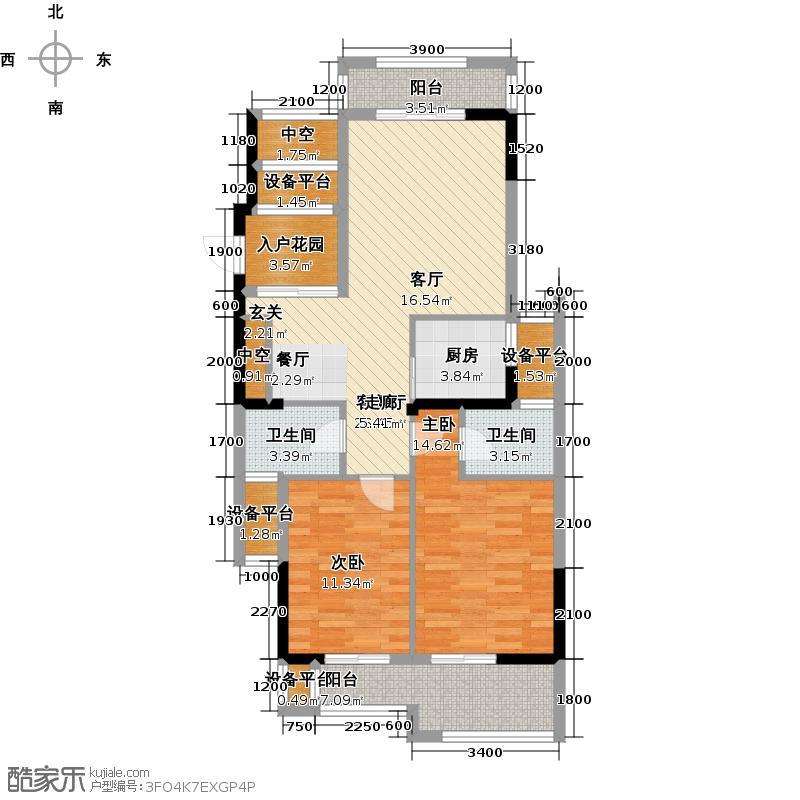 家天下三木城C区(艺墅)户型2室1厅2卫1厨