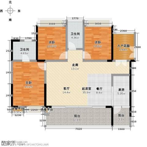 越秀星汇云锦3室0厅2卫1厨121.00㎡户型图