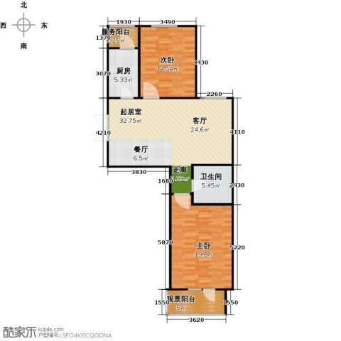 中天富城2室0厅1卫1厨91.00㎡户型图