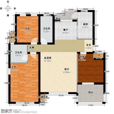 大地12城二期--朗琴园3室0厅2卫1厨155.00㎡户型图