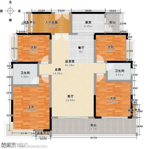 越秀星汇云锦4室0厅2卫1厨156.00㎡户型图
