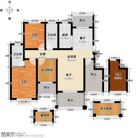 郑东宽景一品3室0厅2卫1厨124.00㎡户型图