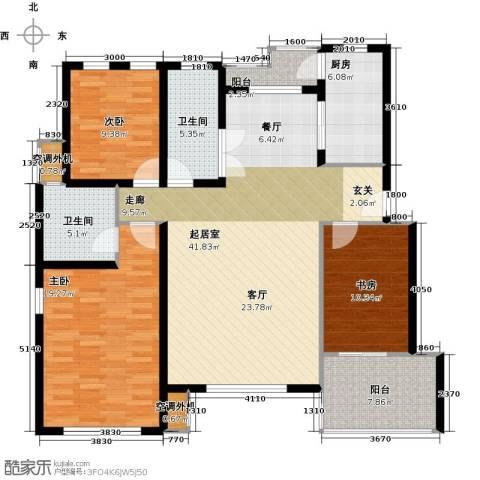 大地12城二期--朗琴园3室0厅2卫1厨154.00㎡户型图