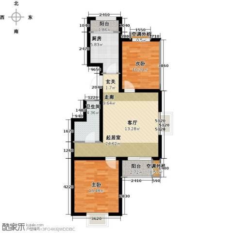 大地12城二期--朗琴园2室0厅1卫1厨93.00㎡户型图