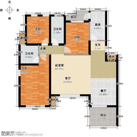 大地12城二期--朗琴园3室0厅2卫1厨167.00㎡户型图