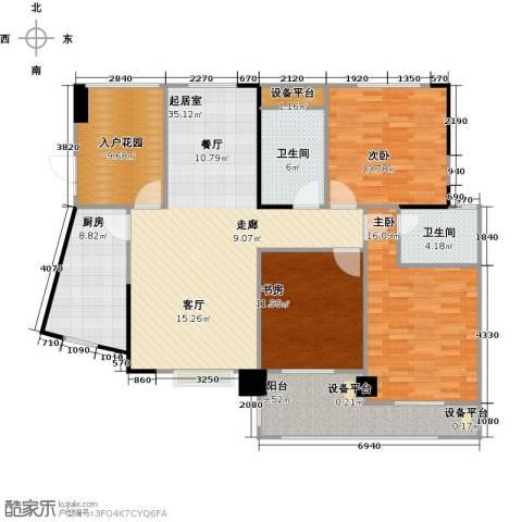 嘉豪公园世家3室0厅2卫1厨126.00㎡户型图