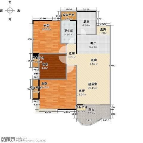 嘉豪公园世家3室0厅1卫1厨112.00㎡户型图