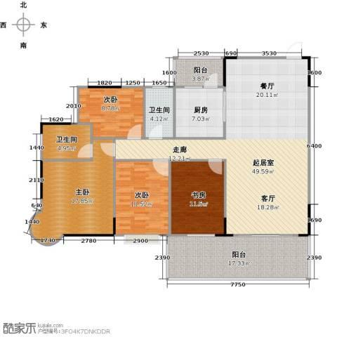 博罗新时代花园4室0厅2卫1厨146.00㎡户型图