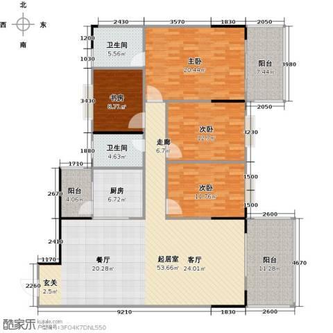 博罗新时代花园4室0厅2卫1厨154.00㎡户型图