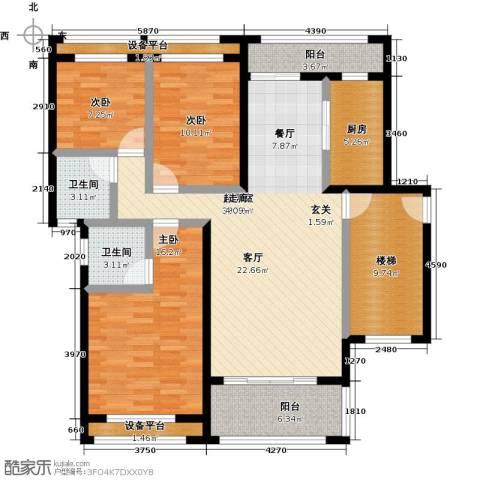 尊德天城三期3室0厅2卫1厨121.00㎡户型图