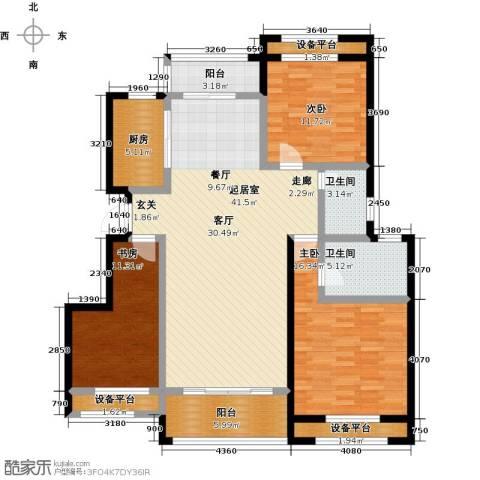 尊德天城三期3室0厅2卫1厨127.00㎡户型图