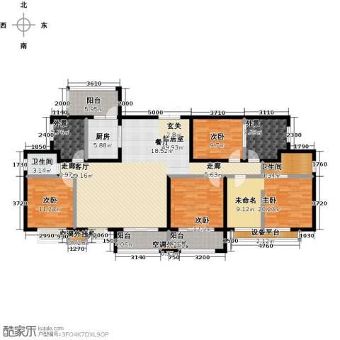 尊德天城三期4室0厅2卫1厨170.00㎡户型图