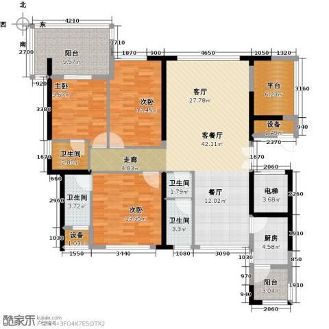 富邦新天地二期3室1厅4卫1厨171.00㎡户型图