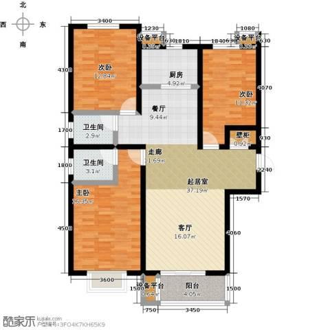 龙华苑3室0厅2卫1厨138.00㎡户型图