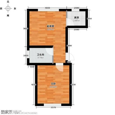 驼梁云中院1室0厅1卫1厨53.00㎡户型图