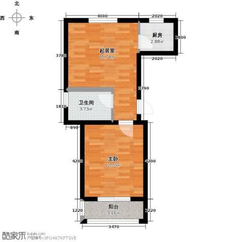 驼梁云中院1室0厅1卫1厨62.00㎡户型图